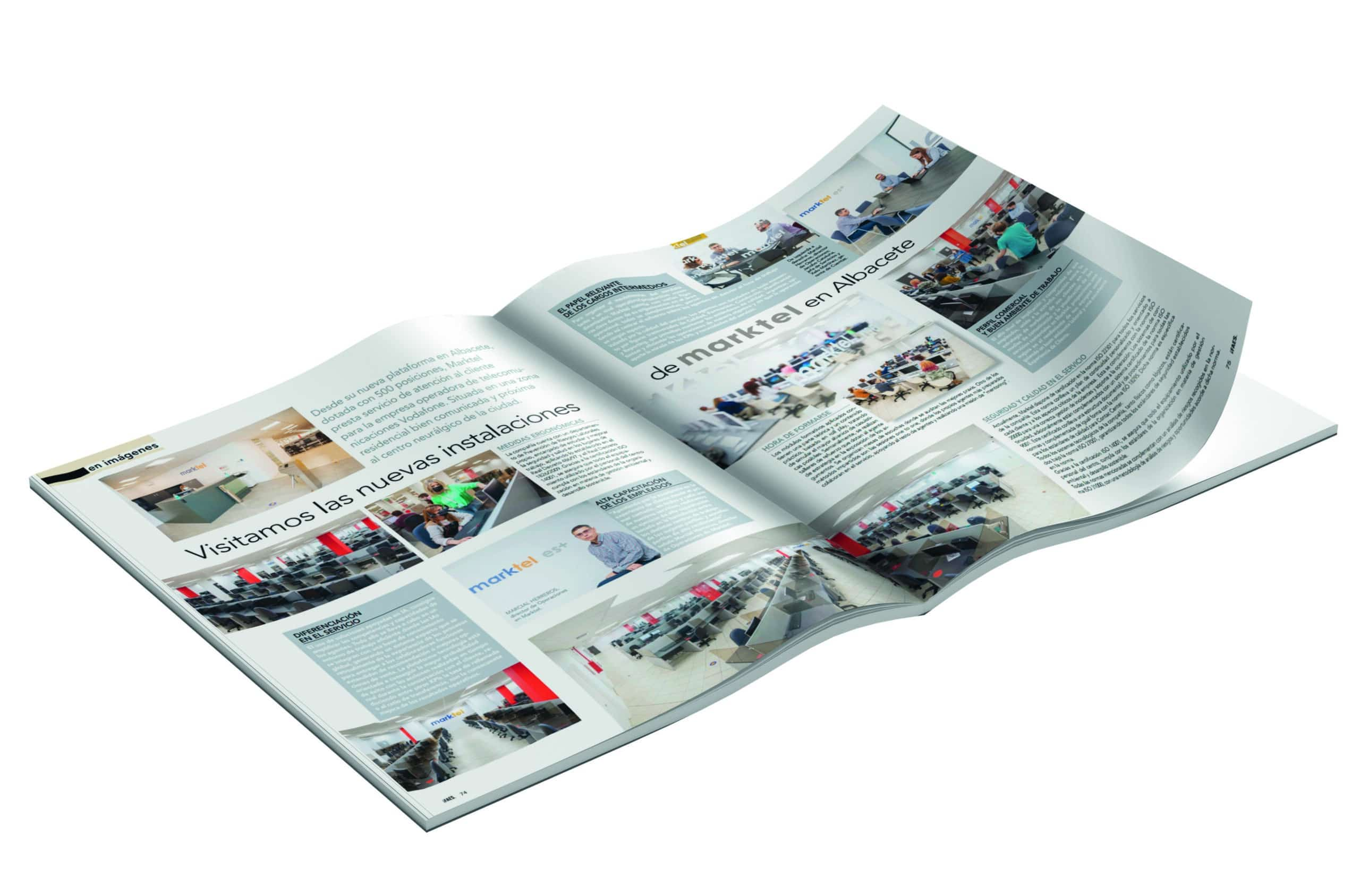 Relación Cliente, nos dedica un artículo de dos páginas tras visitar nuestras nuevas instalaciones de Albacete. ¿Nos lees? Marktel