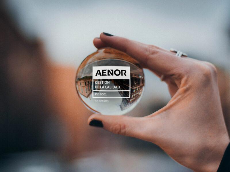 En Marktel reforzamos nuestros objetivos y compromisos corporativos bajo el sello Calidad ISO 9001 de AENOR.